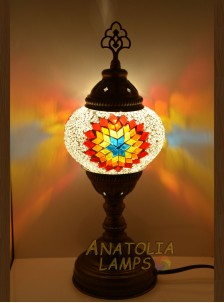 Mozaik Lamba Masaüstü Abajur Numara2-09