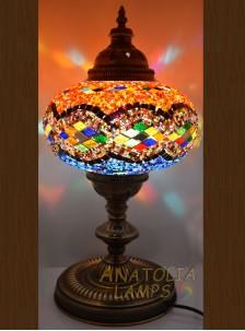 Mozaik Lamba Masaüstü Abajur Numara5-04