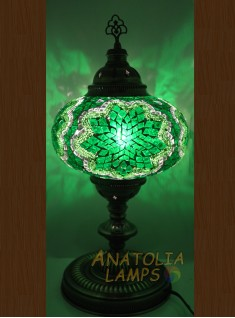 Mozaik lamba masaüstü abajur numara5-05