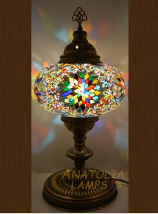 Mozaik Lamba Masaüstü Abajur Numara5-14